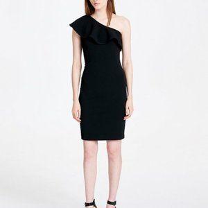 NWT Calvin Klein RUFFLED ONE SHOULDER SHEATH DRESS